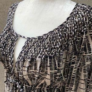 BCBGMAXAZRIA Silk Blouse Tunic